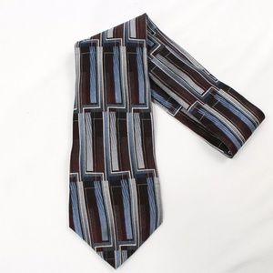 VTG Murano Extra Long Silk Necktie Executive Geome